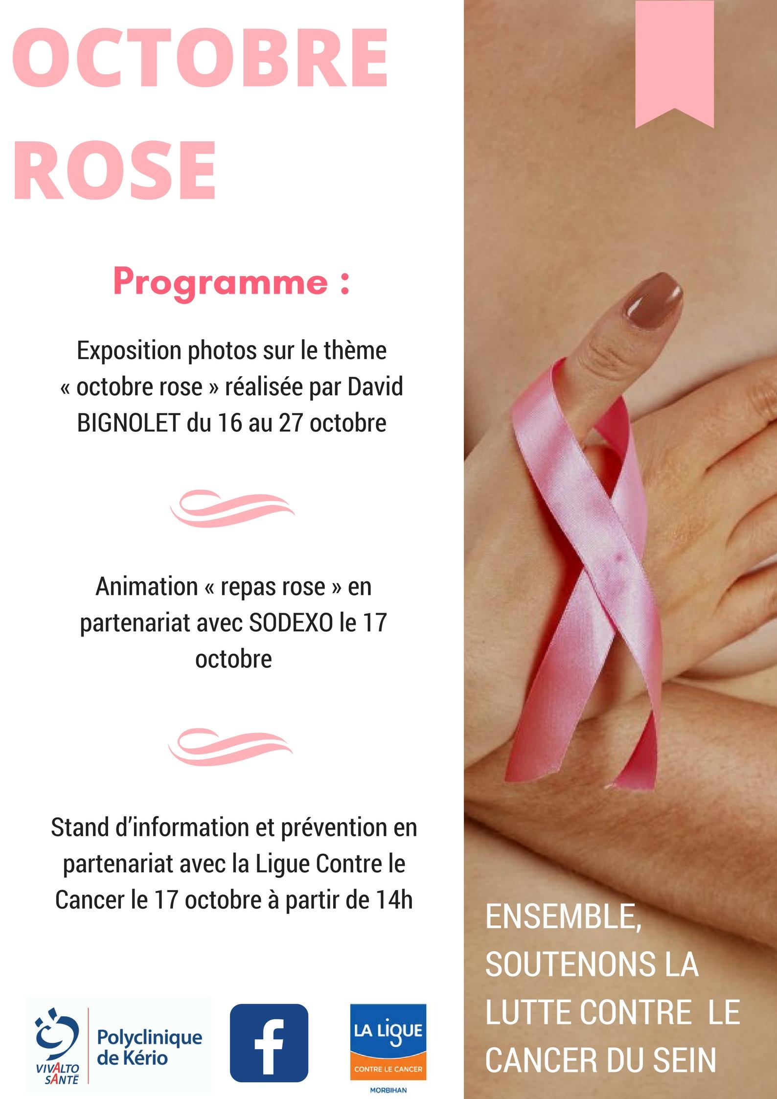 Octobre rose, mois de sensibilisation sur le dépistage du cancer du sein